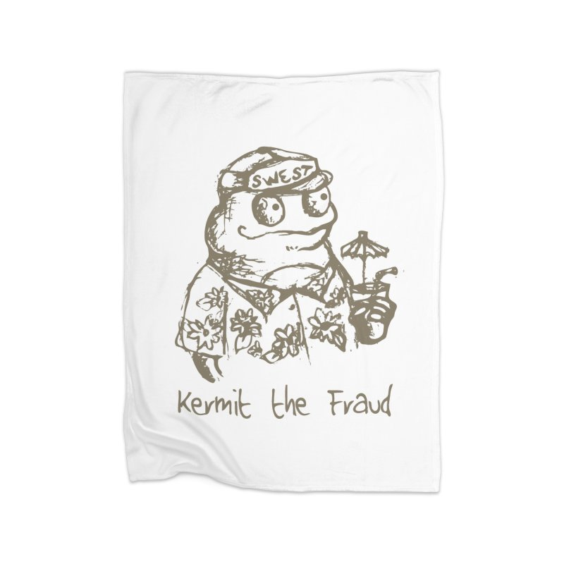 Fraudulent Frog Home Fleece Blanket Blanket by amybelonio's Artist Shop