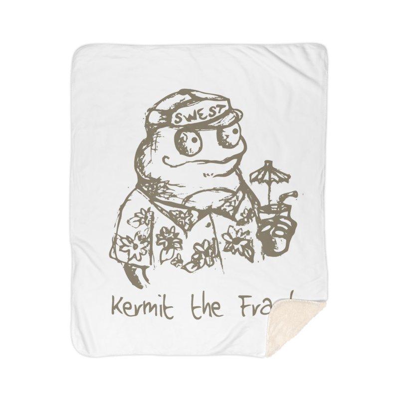 Fraudulent Frog Home Sherpa Blanket Blanket by amybelonio's Artist Shop