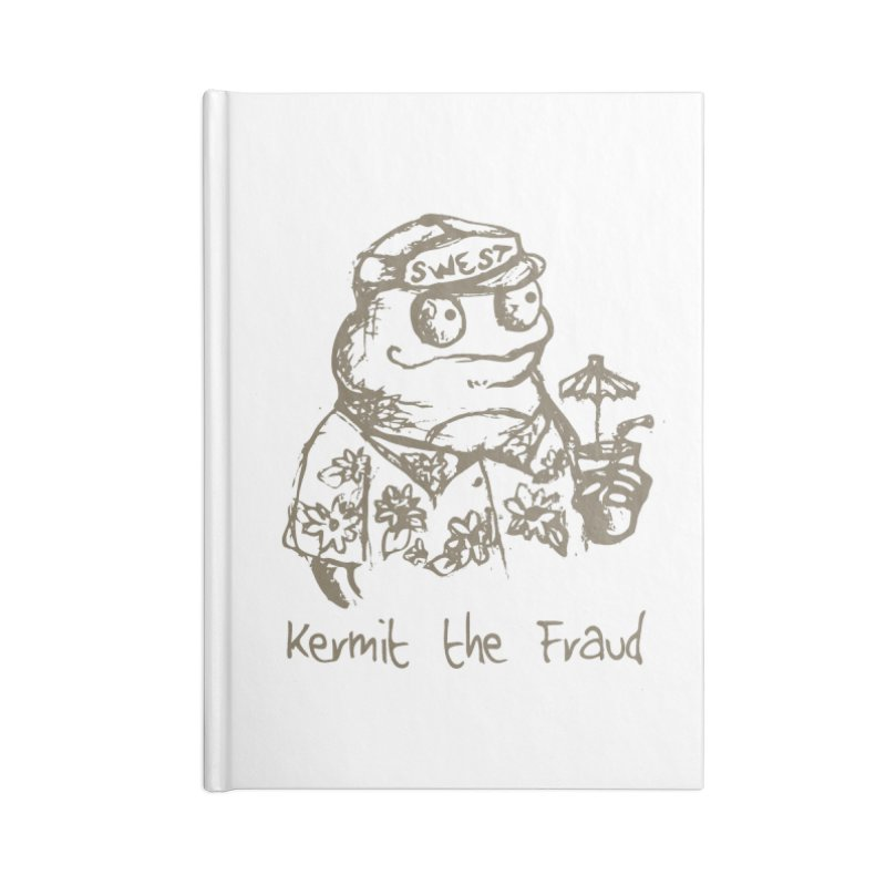 Fraudulent Frog Accessories Blank Journal Notebook by amybelonio's Artist Shop