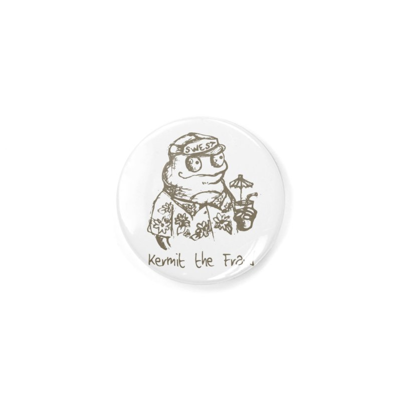 Fraudulent Frog Accessories Button by amybelonio's Artist Shop