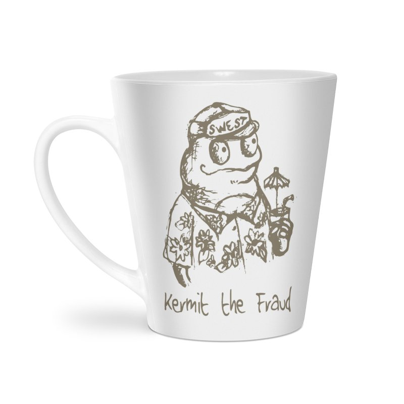 Fraudulent Frog Accessories Latte Mug by amybelonio's Artist Shop