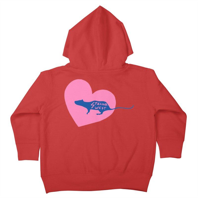 rat love - stellar west Kids Toddler Zip-Up Hoody by amybelonio's Artist Shop