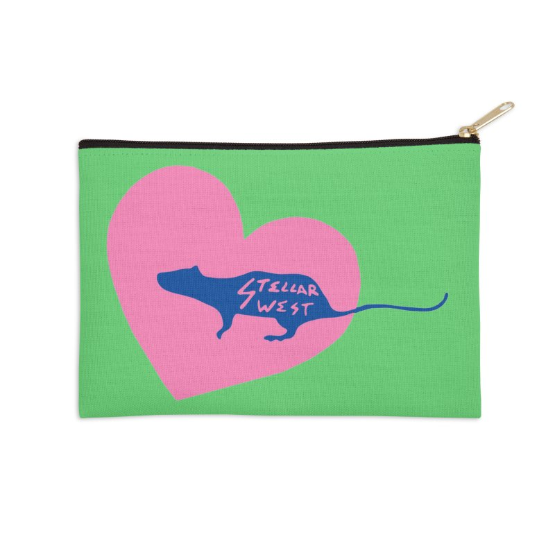 rat love - stellar west Accessories Zip Pouch by amybelonio's Artist Shop