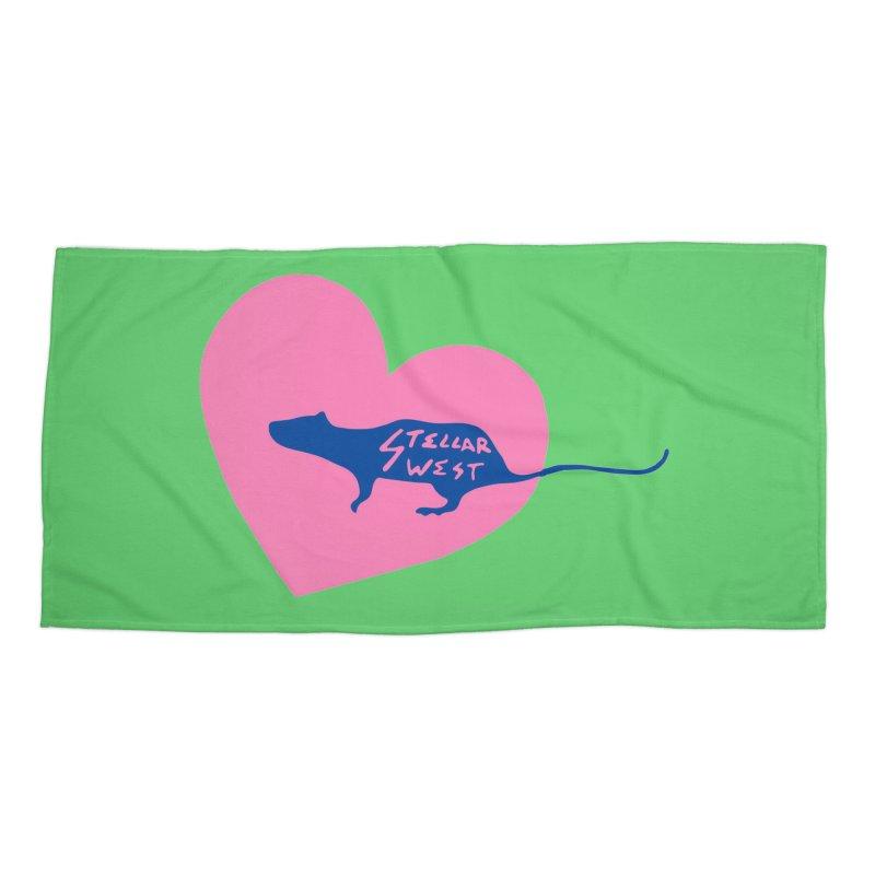 rat love - stellar west Accessories Beach Towel by amybelonio's Artist Shop