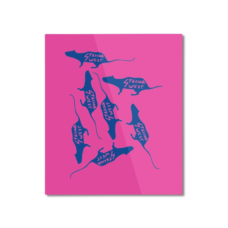 oh rats! stellar west Home Mounted Aluminum Print by amybelonio's Artist Shop