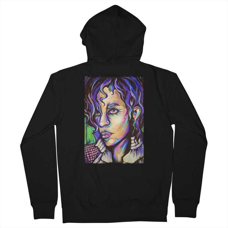 Prince Women's French Terry Zip-Up Hoody by amybelonio's Artist Shop