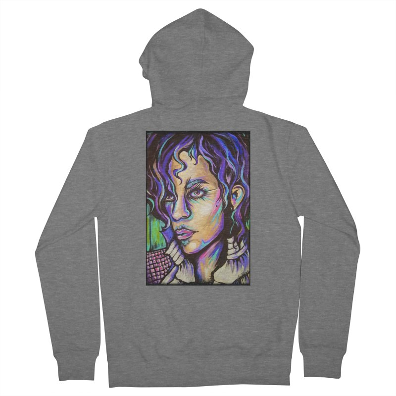 Prince Men's French Terry Zip-Up Hoody by amybelonio's Artist Shop