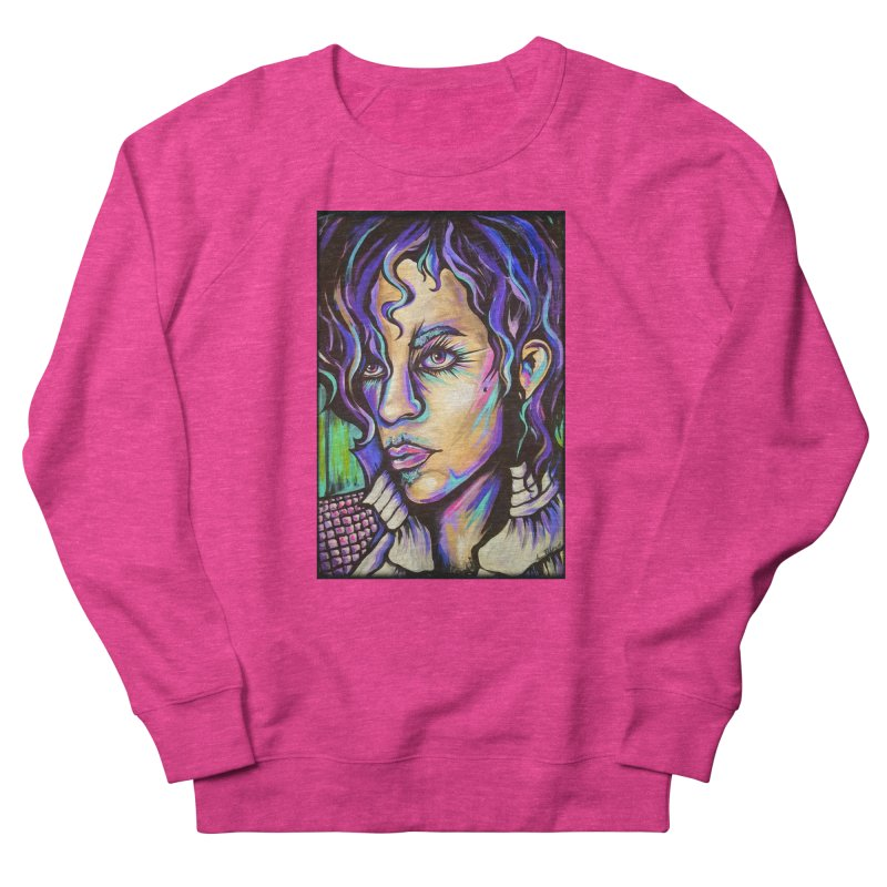 Prince Men's French Terry Sweatshirt by amybelonio's Artist Shop