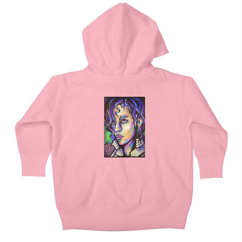 Prince Kids Baby Zip-Up Hoody by amybelonio's Artist Shop