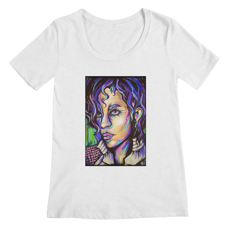 Prince Women's Regular Scoop Neck by amybelonio's Artist Shop