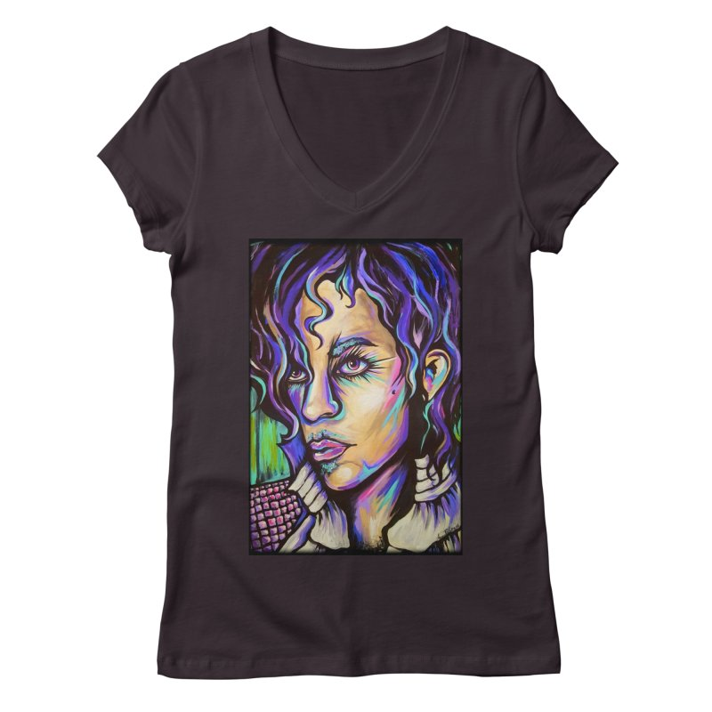 Prince Women's Regular V-Neck by amybelonio's Artist Shop