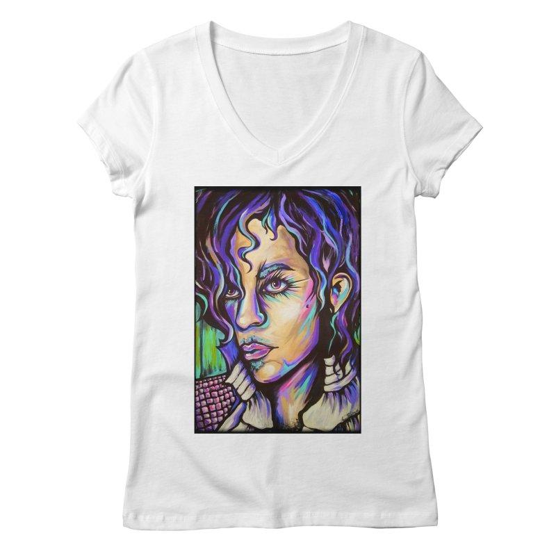 Prince Women's Regular V-Neck by amybelonio's Artist Shop