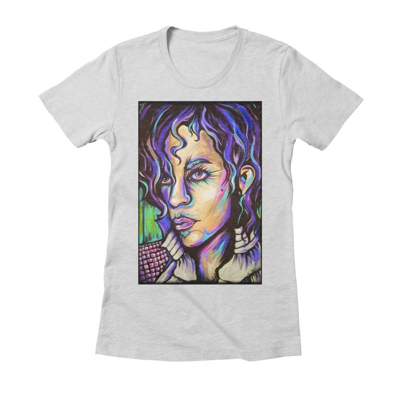 Prince Women's Fitted T-Shirt by amybelonio's Artist Shop