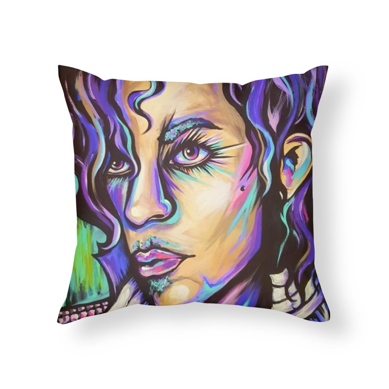 Prince Home Throw Pillow by amybelonio's Artist Shop