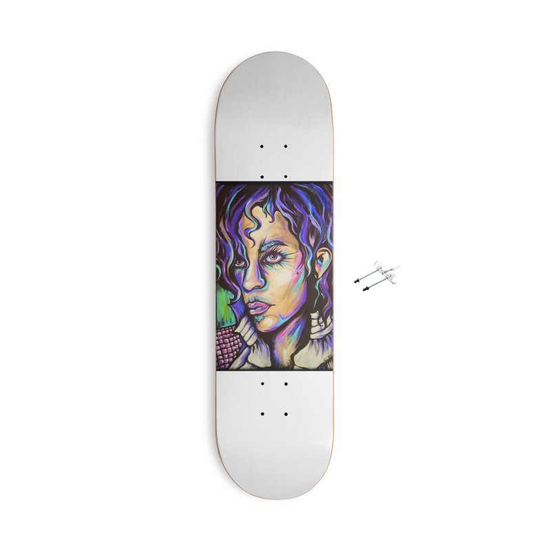 Prince Accessories With Hanging Hardware Skateboard by amybelonio's Artist Shop
