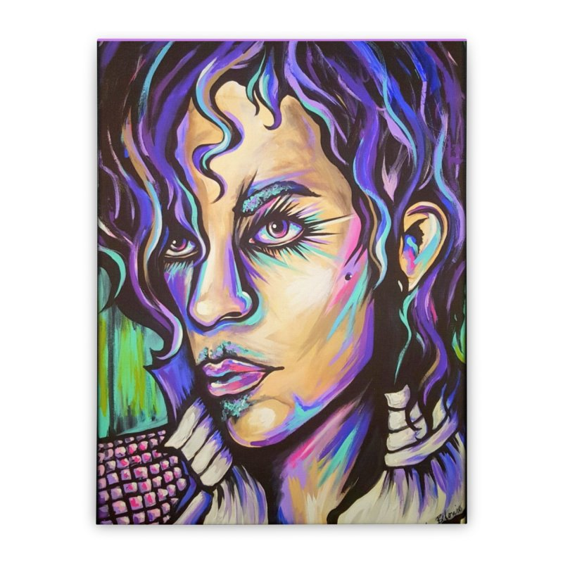 Prince Home Stretched Canvas by amybelonio's Artist Shop