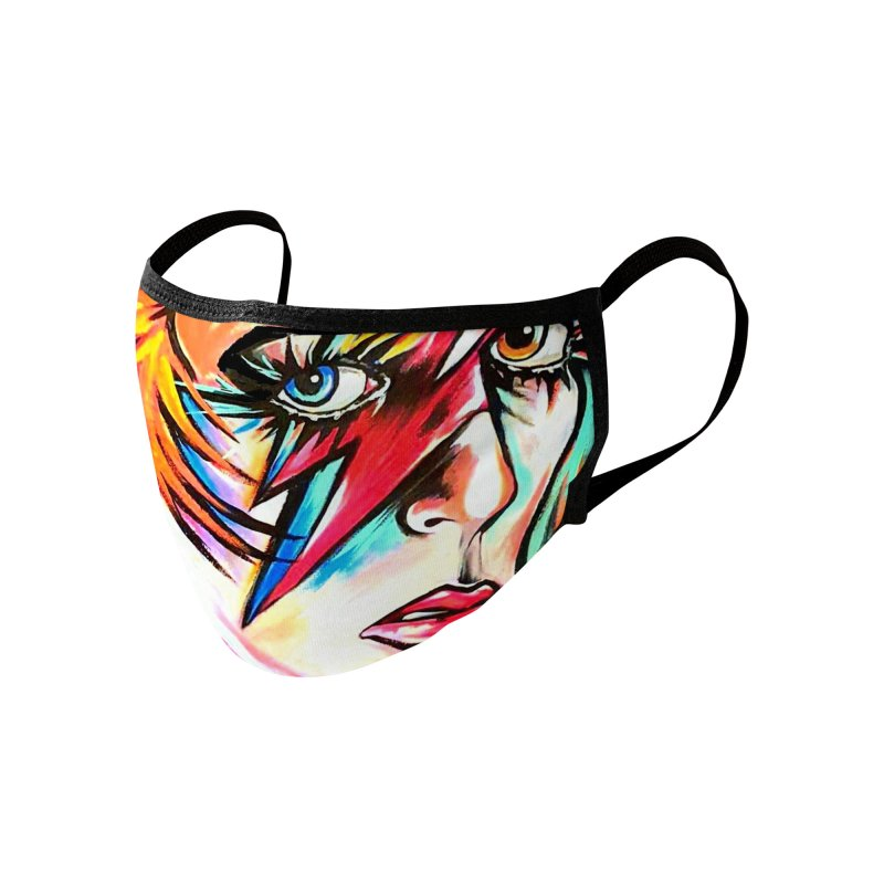 Ziggy Stardust Bowie Accessories Face Mask by amybelonio's Artist Shop