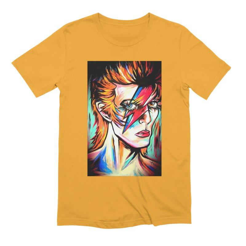 Ziggy Stardust Bowie Men's Extra Soft T-Shirt by amybelonio's Artist Shop