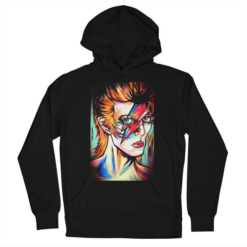 Ziggy Stardust Bowie Women's French Terry Pullover Hoody by amybelonio's Artist Shop