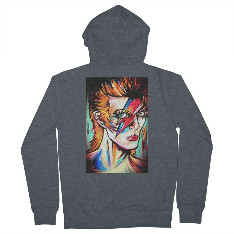 Ziggy Stardust Bowie Women's French Terry Zip-Up Hoody by amybelonio's Artist Shop