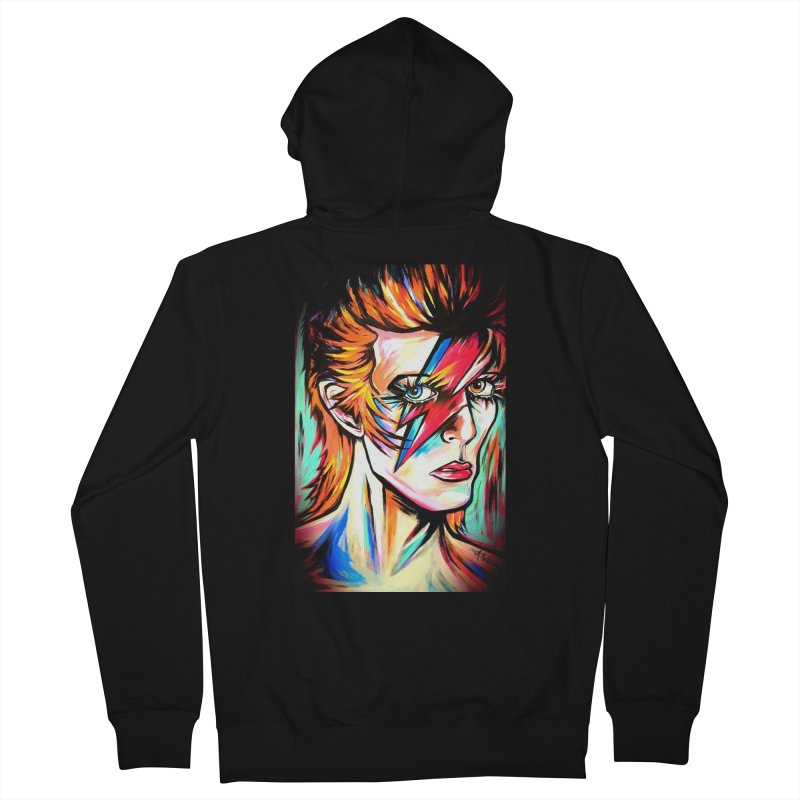 Ziggy Stardust Bowie Women's French Terry Zip-Up Hoody by amybelonio's Artist Shop