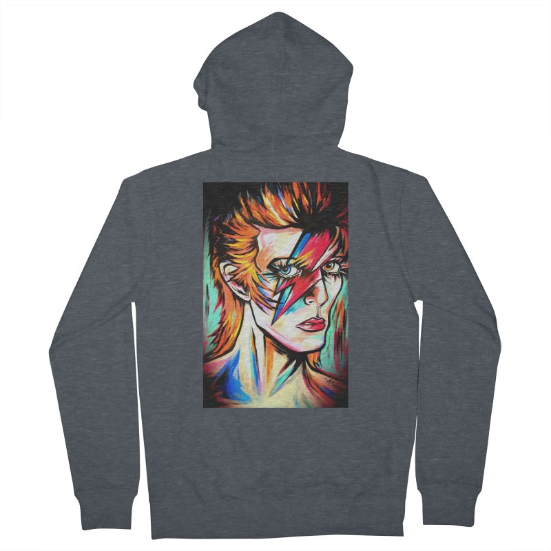 Ziggy Stardust Bowie Men's French Terry Zip-Up Hoody by amybelonio's Artist Shop