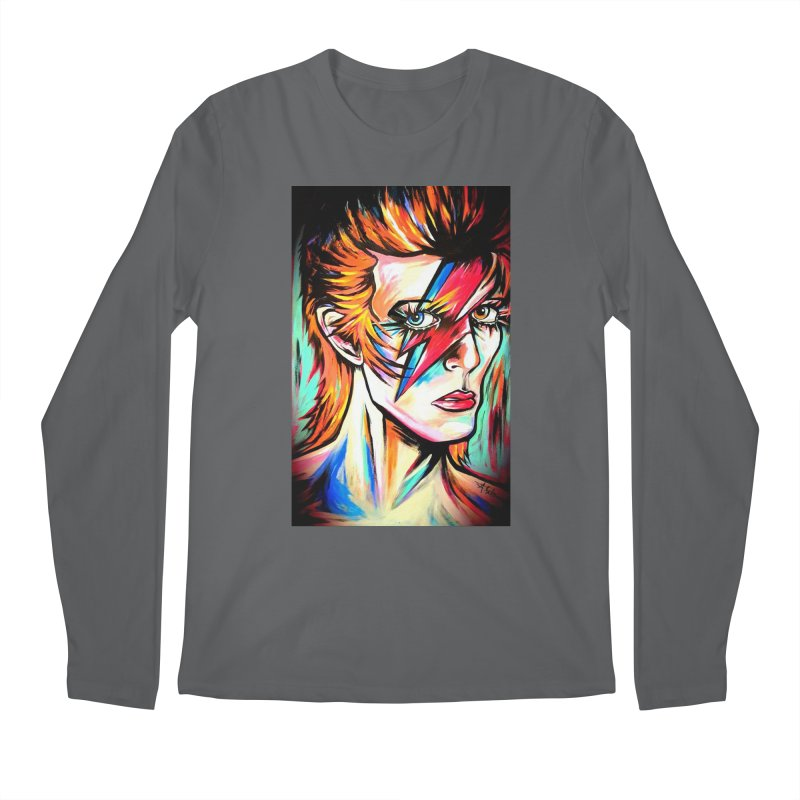 Ziggy Stardust Bowie Men's Regular Longsleeve T-Shirt by amybelonio's Artist Shop