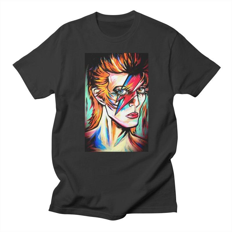 Ziggy Stardust Bowie Women's Regular Unisex T-Shirt by amybelonio's Artist Shop