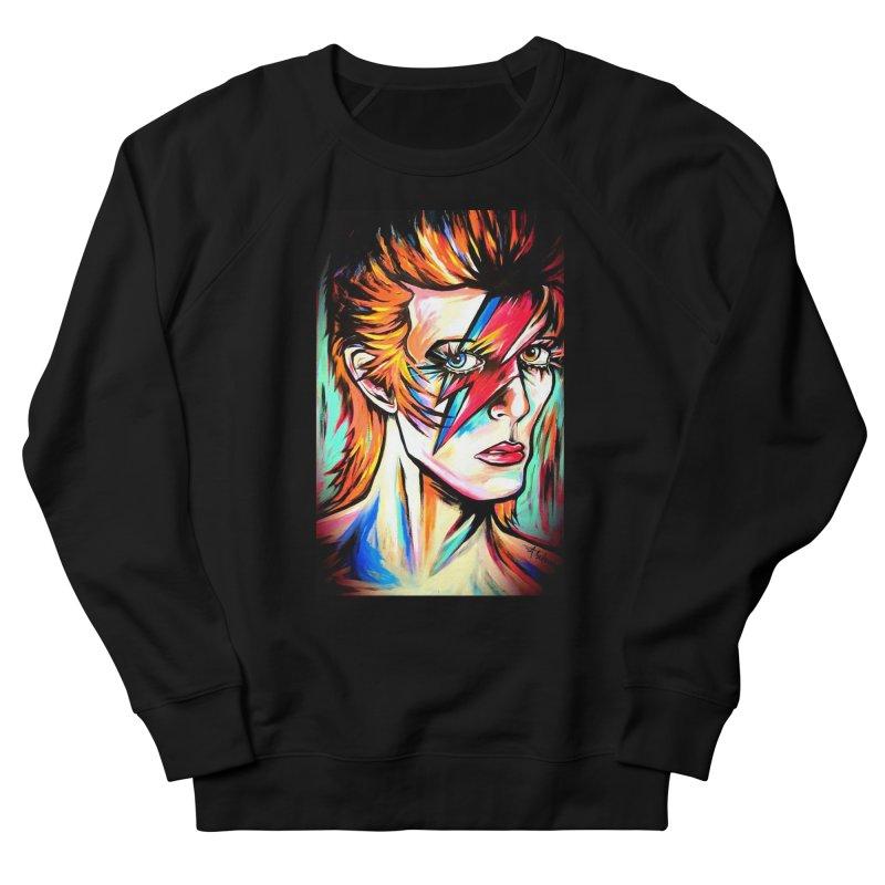 Ziggy Stardust Bowie Women's French Terry Sweatshirt by amybelonio's Artist Shop