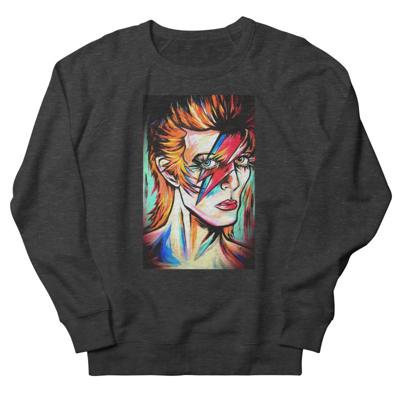 Ziggy Stardust Bowie Men's French Terry Sweatshirt by amybelonio's Artist Shop
