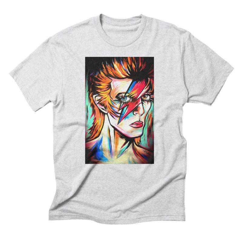 Ziggy Stardust Bowie Men's Triblend T-Shirt by amybelonio's Artist Shop