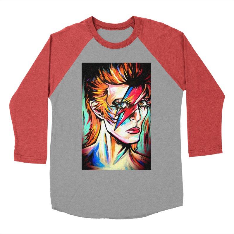 Ziggy Stardust Bowie Men's Baseball Triblend Longsleeve T-Shirt by amybelonio's Artist Shop