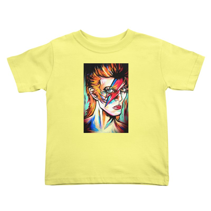 Ziggy Stardust Bowie Kids Toddler T-Shirt by amybelonio's Artist Shop