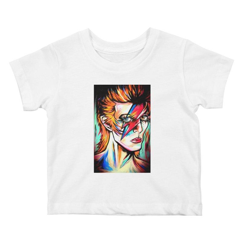 Ziggy Stardust Bowie Kids Baby T-Shirt by amybelonio's Artist Shop