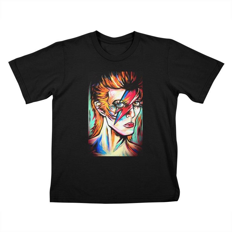 Ziggy Stardust Bowie Kids T-Shirt by amybelonio's Artist Shop
