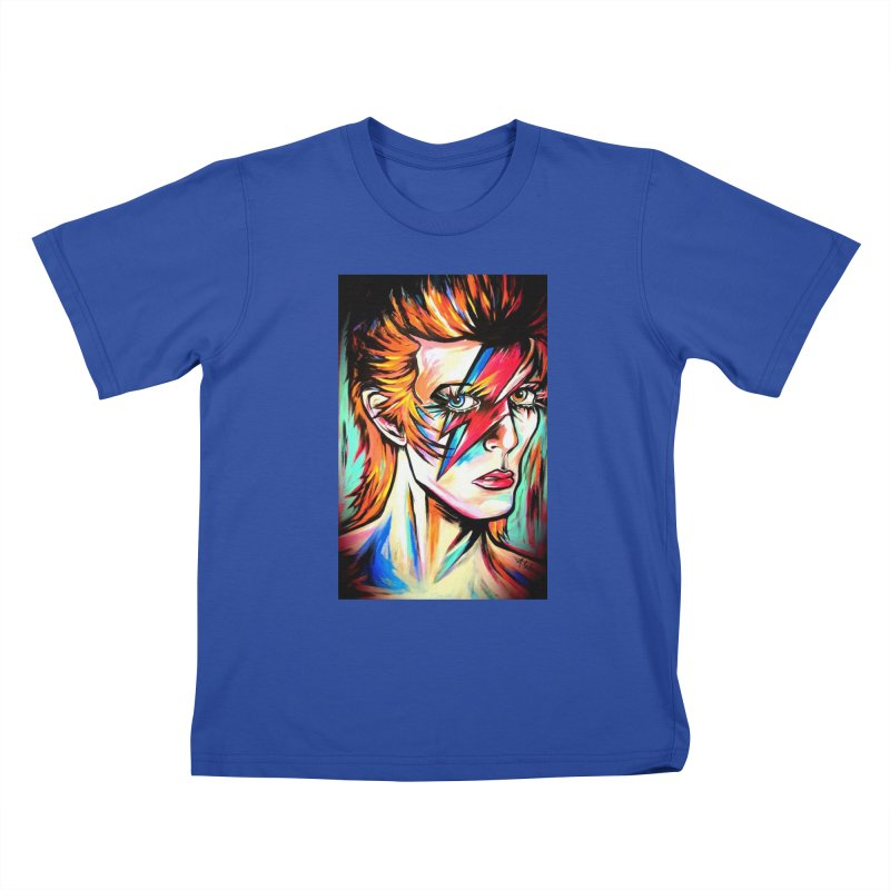 Ziggy Stardust Bowie Kids T-Shirt by amybelonio's Artist Shop