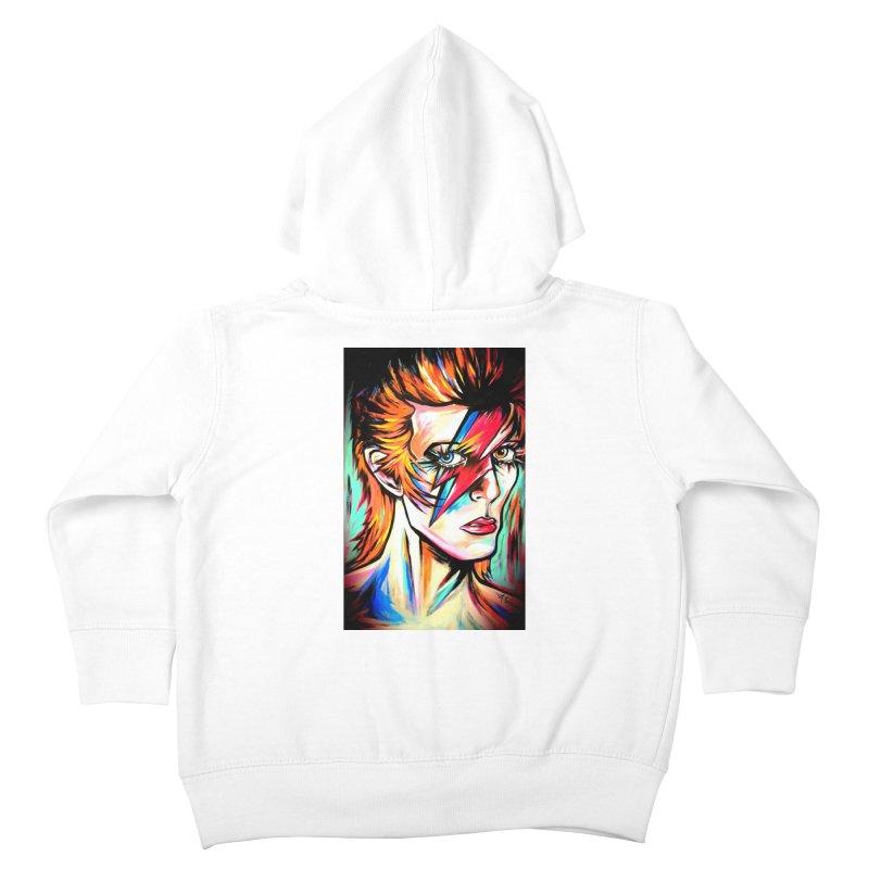 Ziggy Stardust Bowie Kids Toddler Zip-Up Hoody by amybelonio's Artist Shop