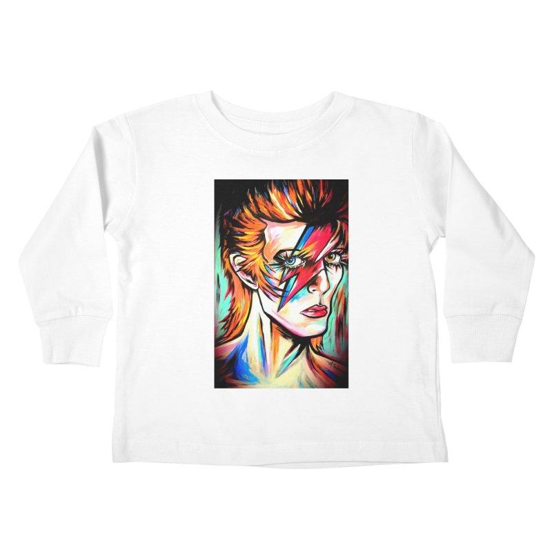 Ziggy Stardust Bowie Kids Toddler Longsleeve T-Shirt by amybelonio's Artist Shop