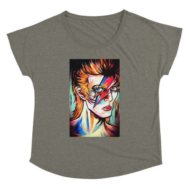 Ziggy Stardust Bowie Women's Dolman Scoop Neck by amybelonio's Artist Shop