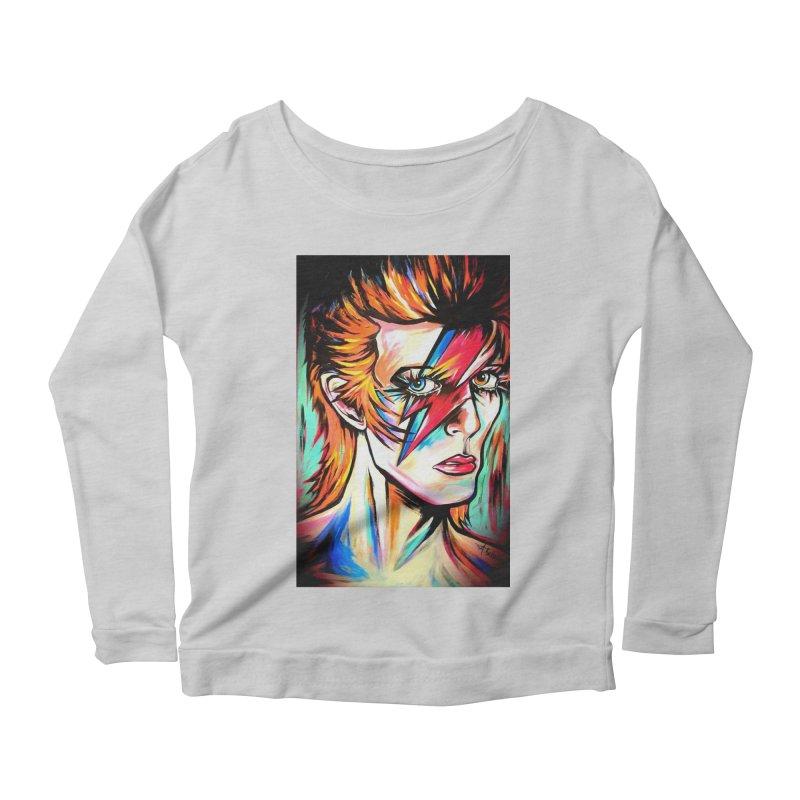 Ziggy Stardust Bowie Women's Scoop Neck Longsleeve T-Shirt by amybelonio's Artist Shop