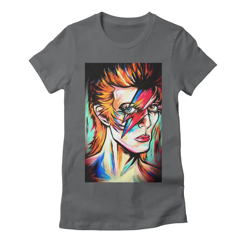 Ziggy Stardust Bowie Women's Fitted T-Shirt by amybelonio's Artist Shop