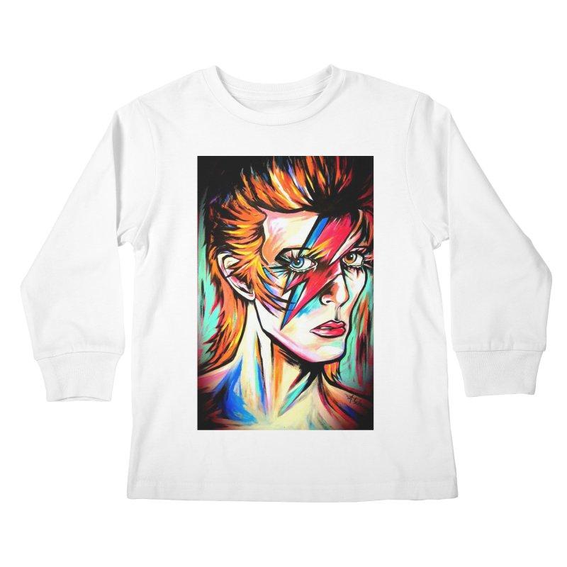 Ziggy Stardust Bowie Kids Longsleeve T-Shirt by amybelonio's Artist Shop