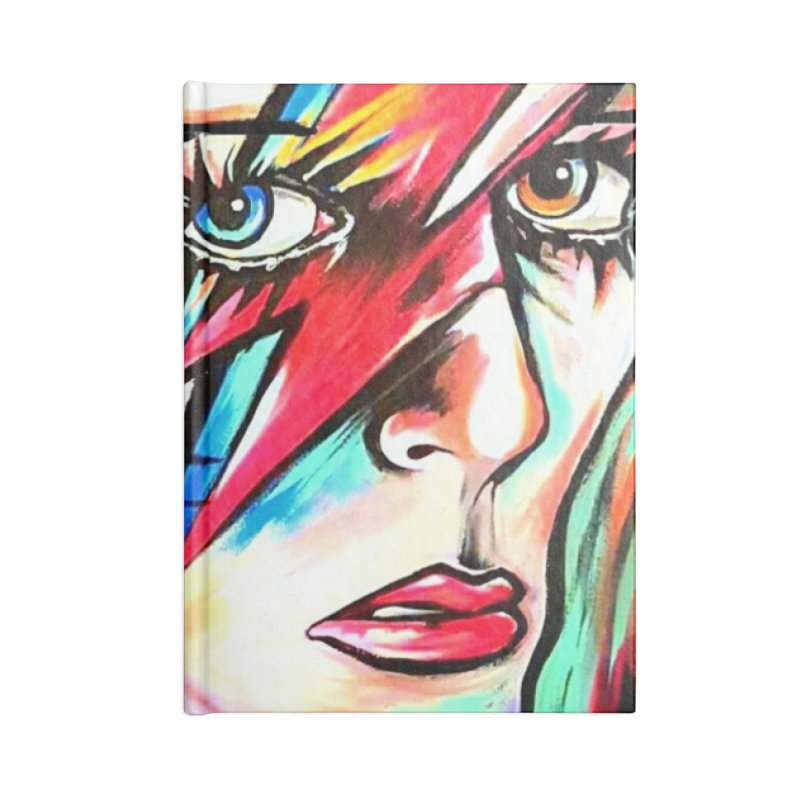 Ziggy Stardust Bowie Accessories Lined Journal Notebook by amybelonio's Artist Shop