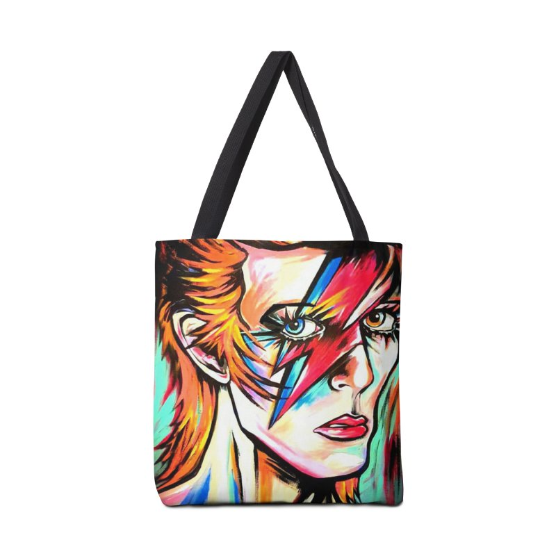 Ziggy Stardust Bowie Accessories Tote Bag Bag by amybelonio's Artist Shop