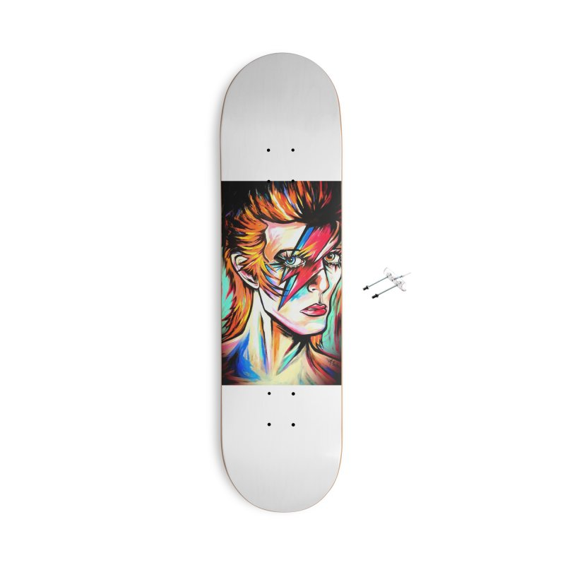 Ziggy Stardust Bowie Accessories With Hanging Hardware Skateboard by amybelonio's Artist Shop