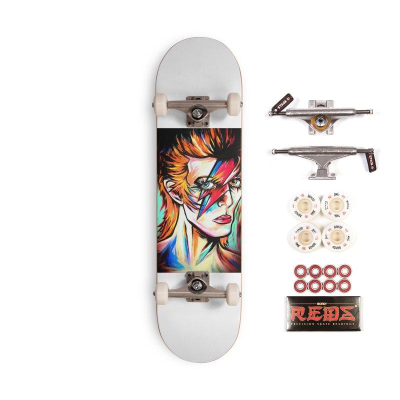 Ziggy Stardust Bowie Accessories Complete - Pro Skateboard by amybelonio's Artist Shop