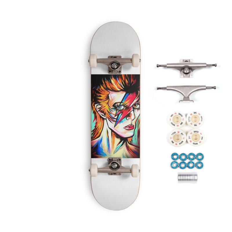 Ziggy Stardust Bowie Accessories Complete - Premium Skateboard by amybelonio's Artist Shop