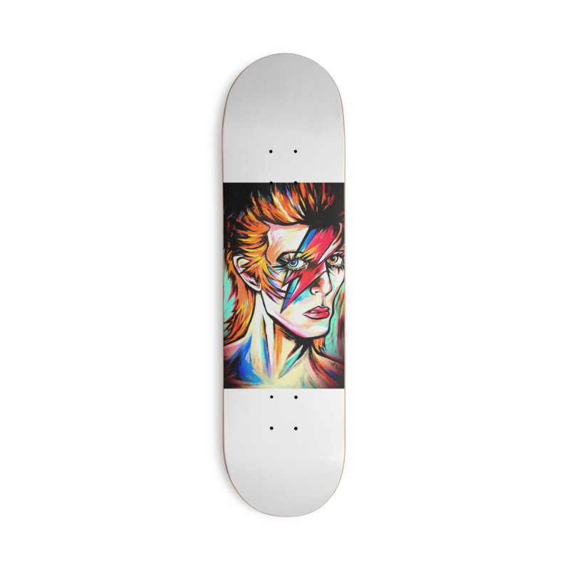 Ziggy Stardust Bowie Accessories Deck Only Skateboard by amybelonio's Artist Shop