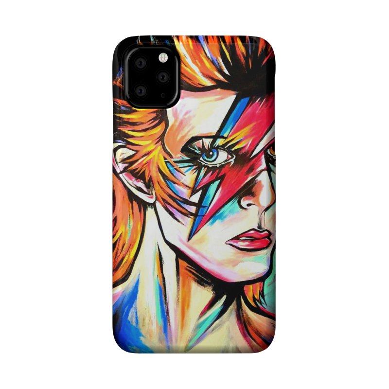 Ziggy Stardust Bowie Accessories Phone Case by amybelonio's Artist Shop