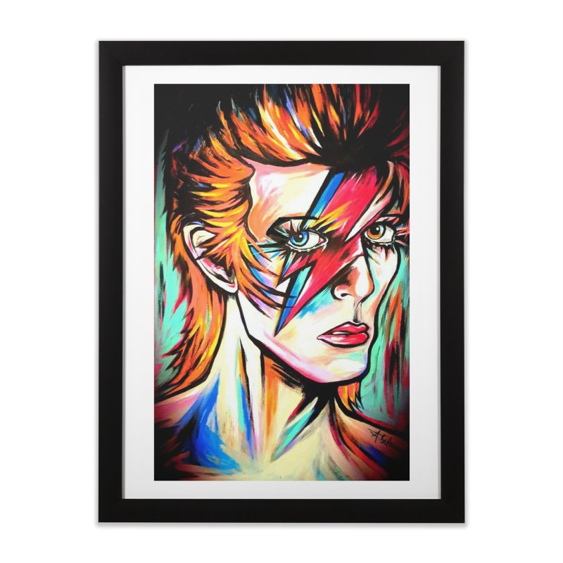Ziggy Stardust Bowie Home Framed Fine Art Print by amybelonio's Artist Shop